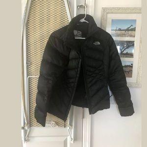 North face goose down black jacket
